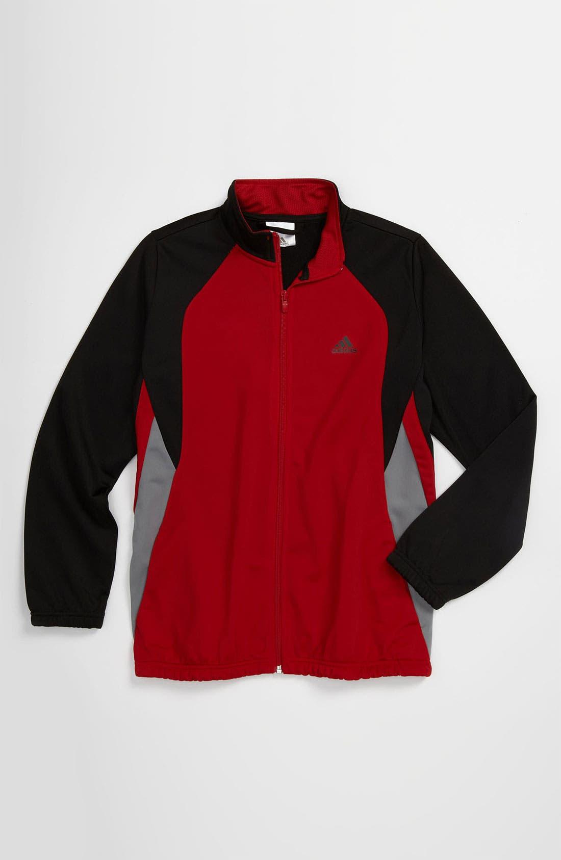 Alternate Image 1 Selected - adidas Tricot Track Jacket (Big Boys)