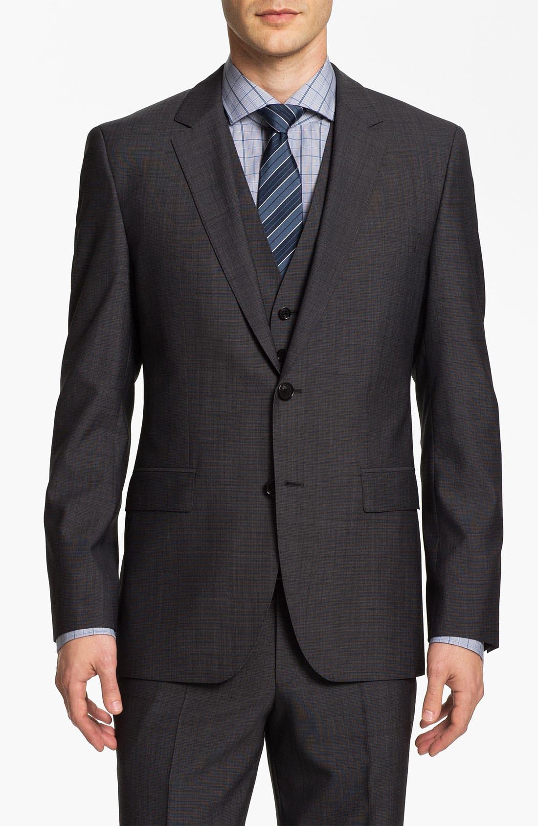 Main Image - BOSS Black 'James/Sharp' Trim Fit Three Piece Suit