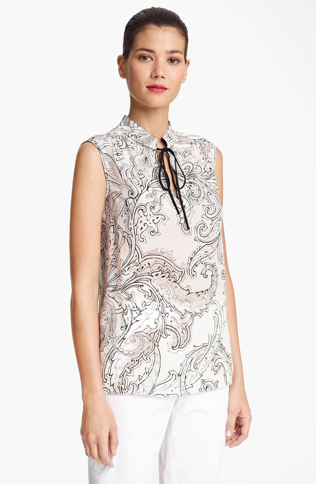 Alternate Image 1 Selected - Piazza Sempione Print Silk Blouse