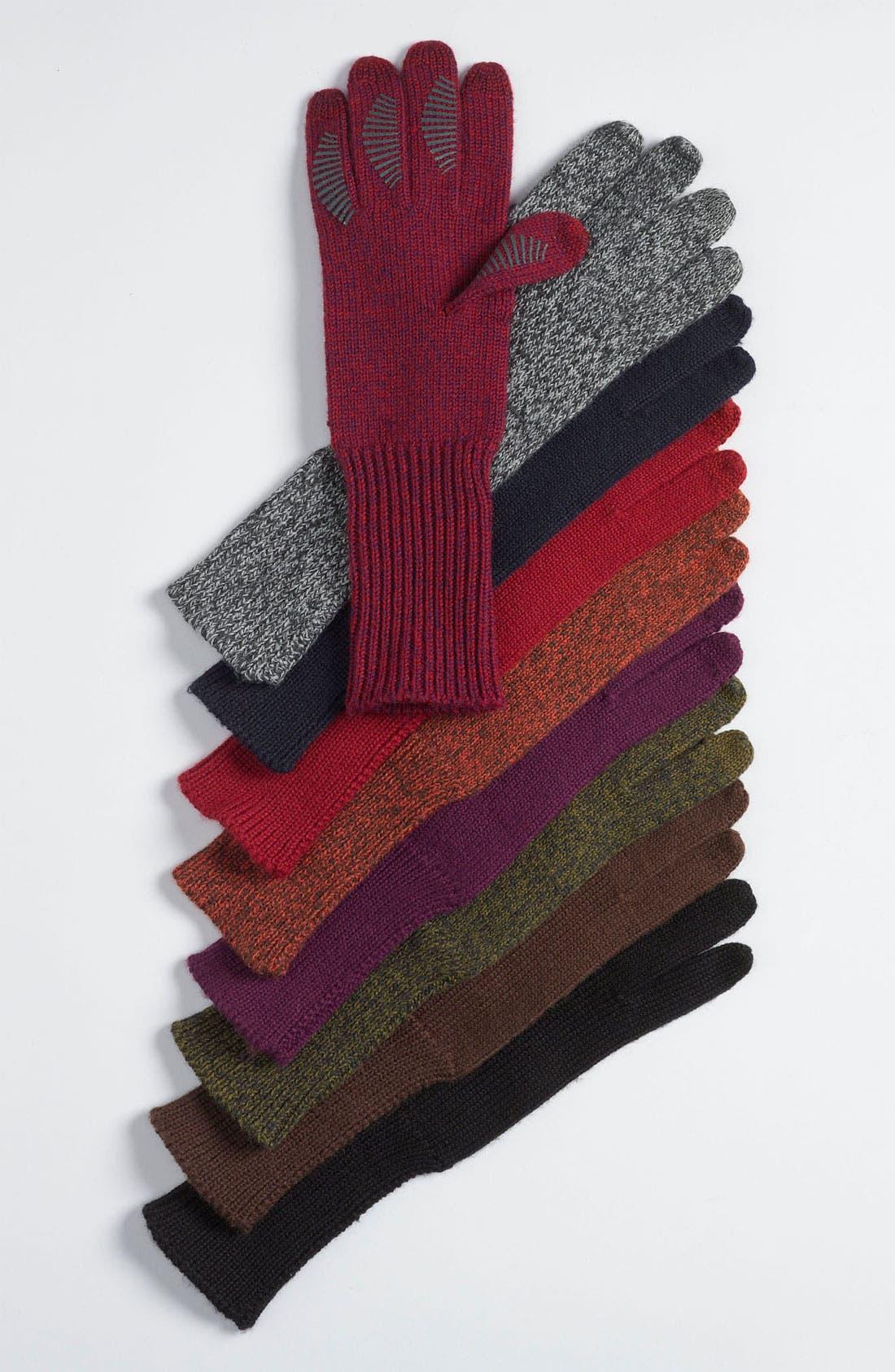 Main Image - U|R Long Knit Tech Gloves