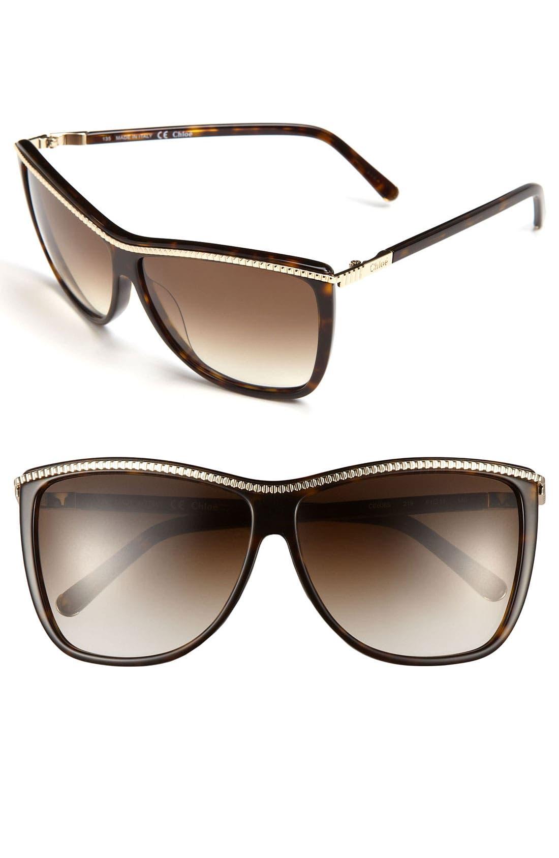 Main Image - Chloé 61mm Retro Sunglasses
