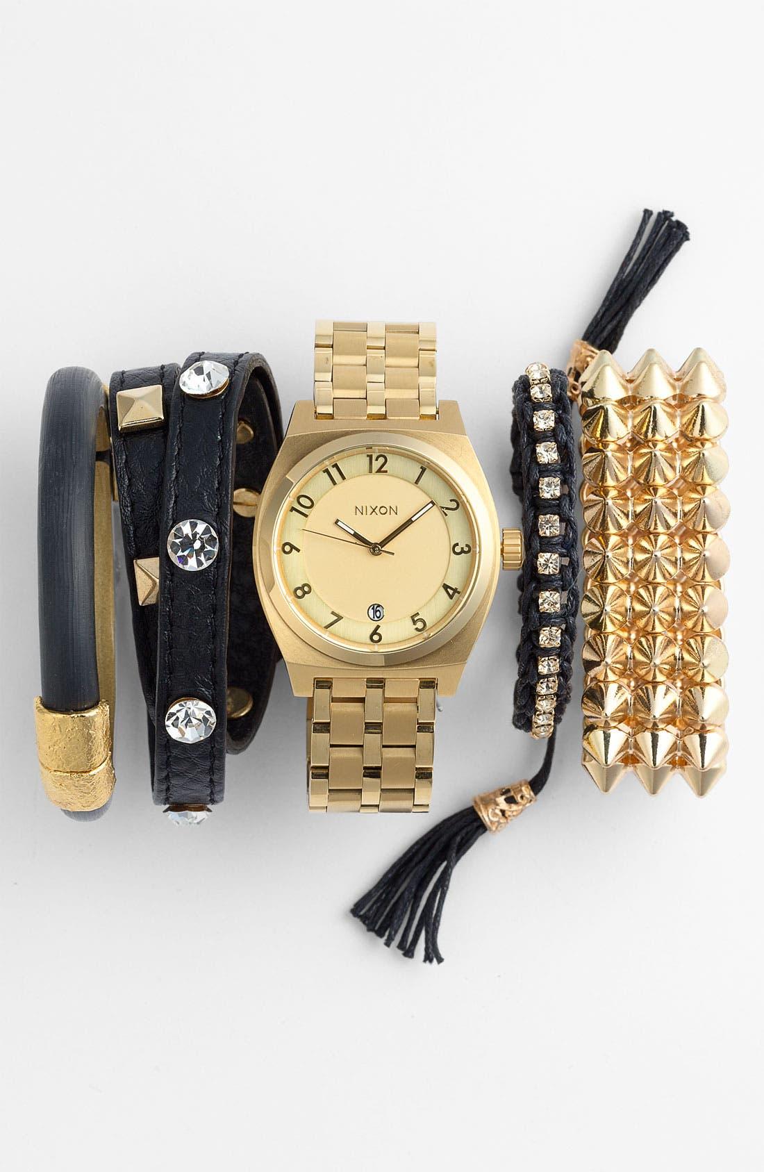 Alternate Image 2  - Cara Studded Stretch Bracelet