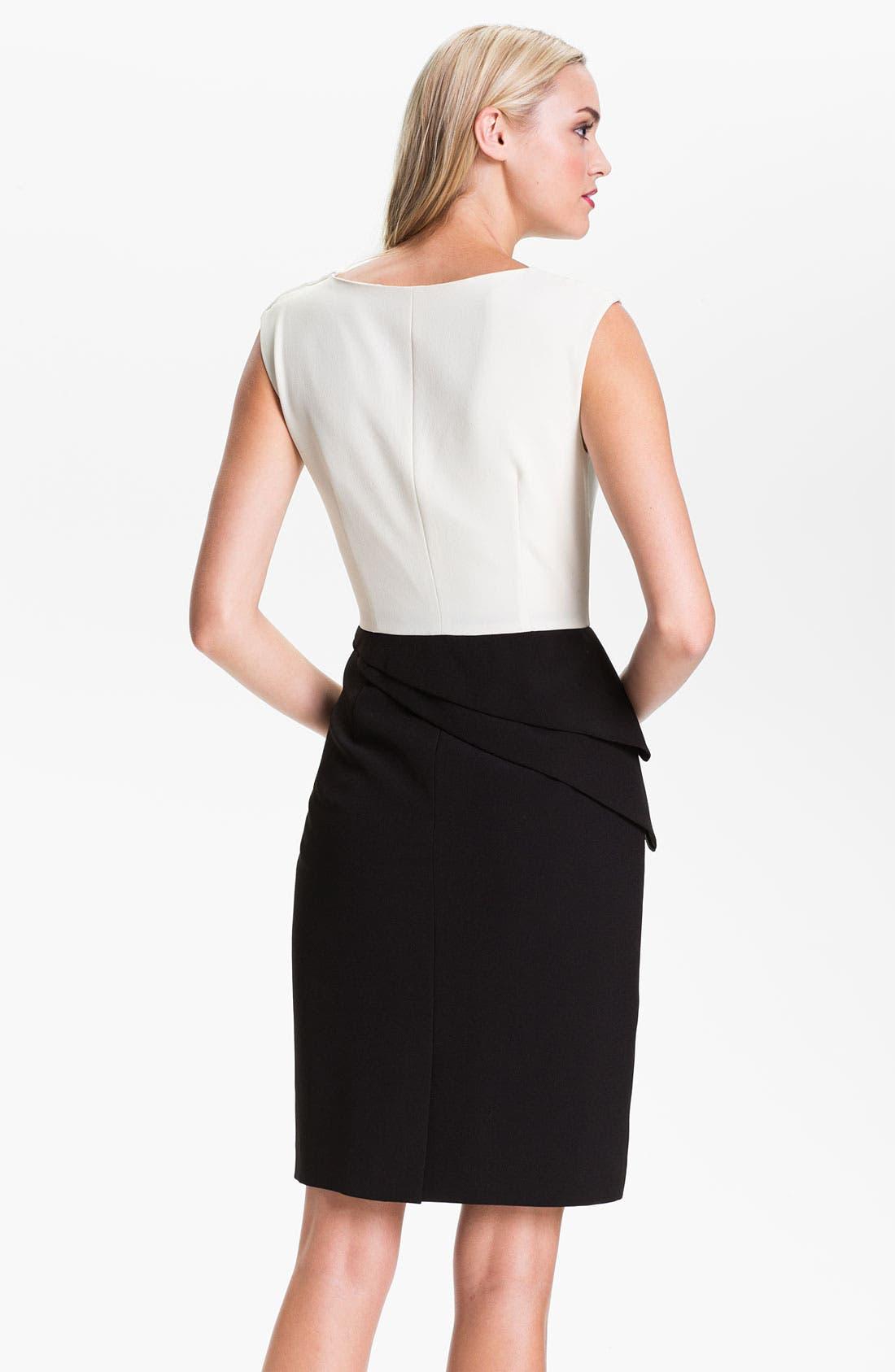 Alternate Image 2  - Adrianna Papell Asymmetrical Peplum Dress (Petite)