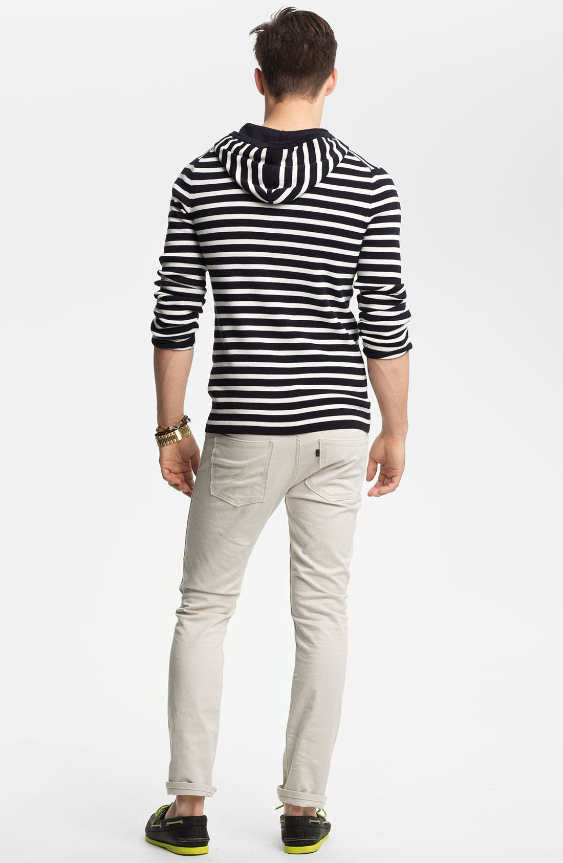 Alternate Image 5  - Vince Stripe Hooded Henley