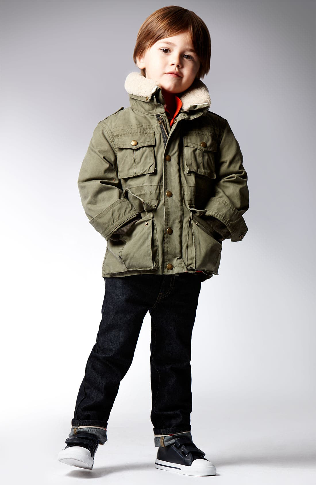 Alternate Image 2  - Burberry Layered Jacket (Big Boys)