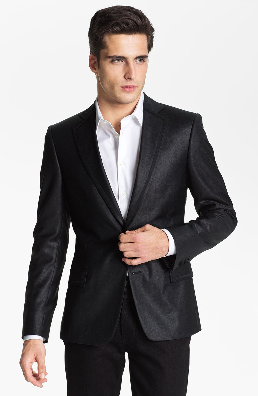 Alternate Image 1 Selected - Versace Trim Fit Dinner Jacket