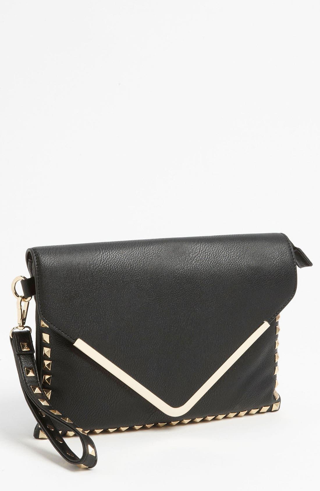 Main Image - High Fashion Handbags Studded Envelope Clutch
