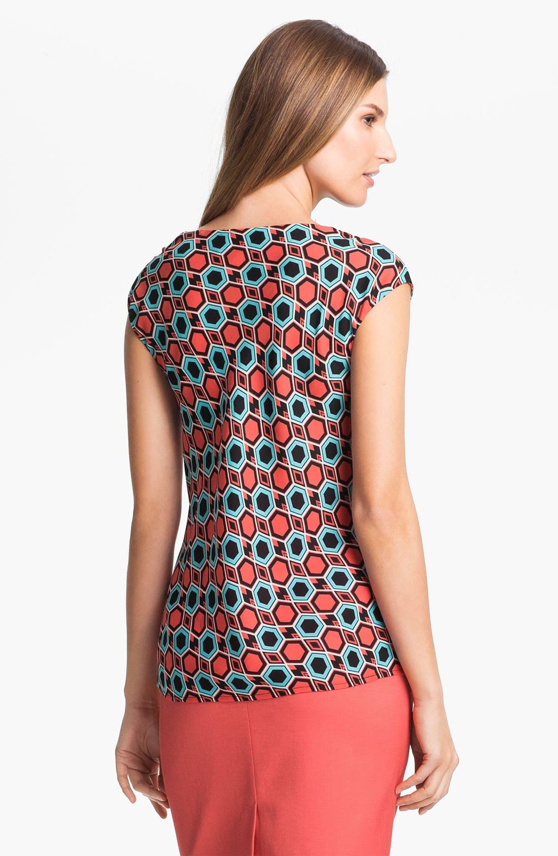 Alternate Image 2  - Classiques Entier® 'Altro' Drape Neck Silk Top