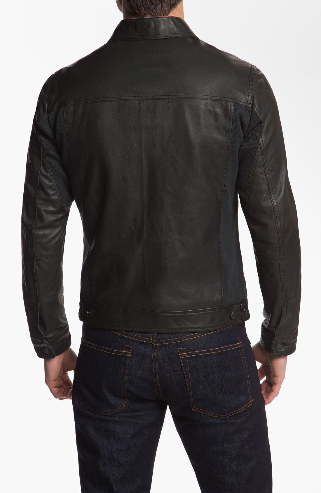Alternate Image 2  - Edun 'Classic' Leather Moto Jacket