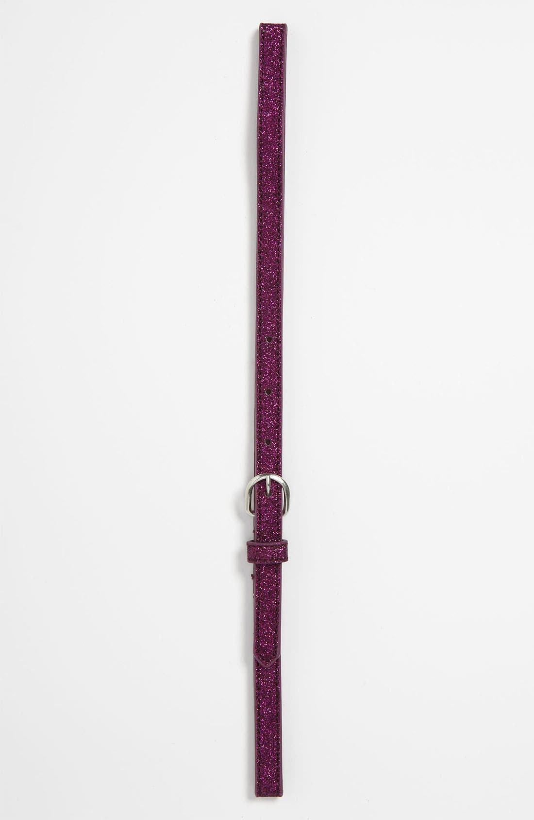 Alternate Image 1 Selected - Rockin Robin Skinny Sparkle Belt (Girls)