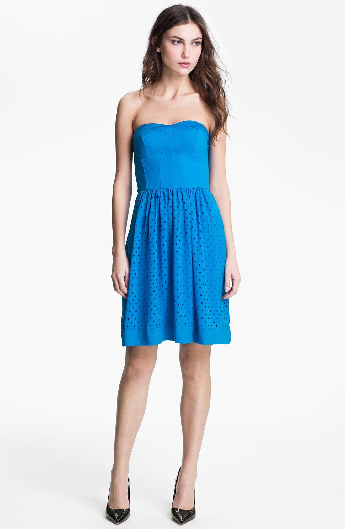 Alternate Image 1 Selected - Rebecca Taylor Cutout Fit & Flare Dress