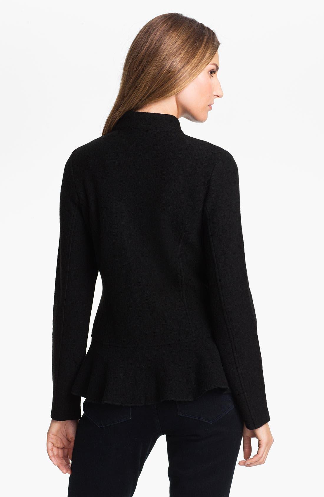Alternate Image 2  - Beatrix Ost Ruffled Zip Front Jacket (Online Exclusive)