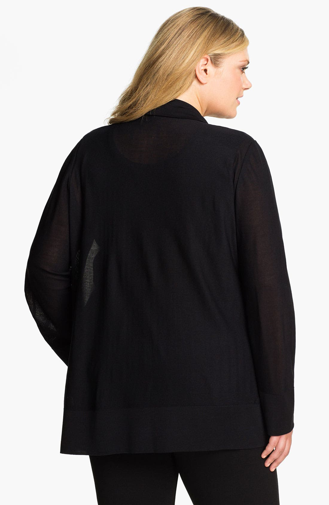 Alternate Image 2  - Exclusively Misook Drape Front Cardigan (Plus)