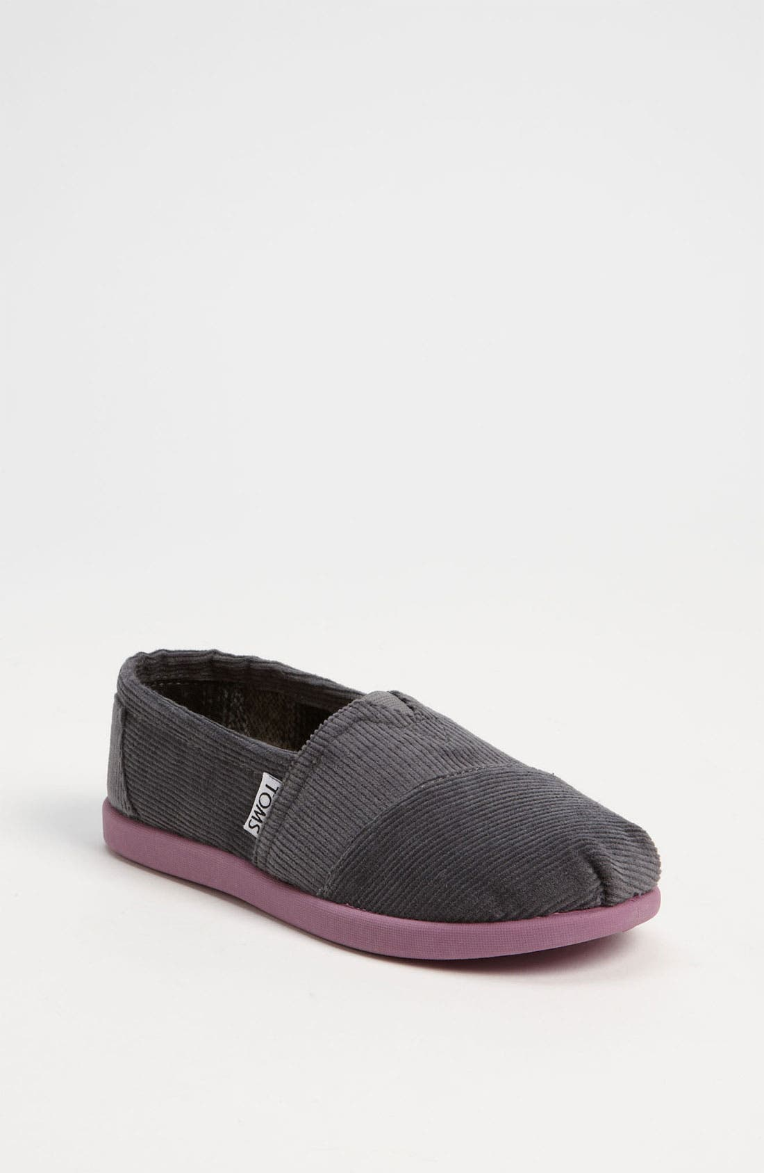 Alternate Image 1 Selected - TOMS 'Classic' Corduroy Slip-On (Toddler, Little Kid & Big Kid)