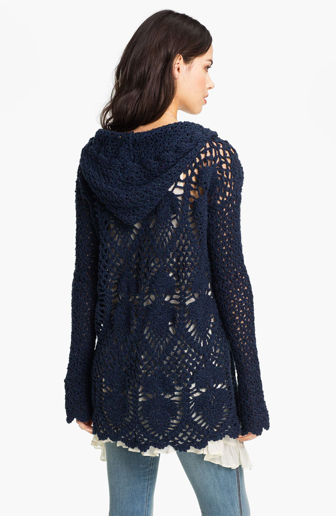Alternate Image 2  - Free People 'Pacifica' Hooded Crochet Tunic