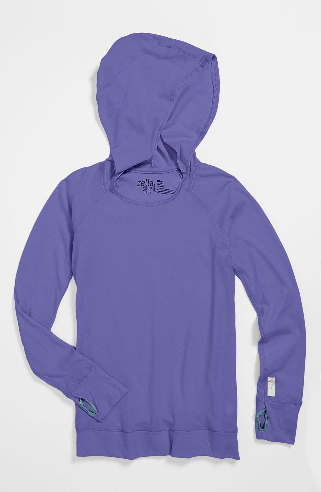 Alternate Image 1 Selected - Zella Girl 'Sporty' Hooded Tunic Tee (Little Girls & Big Girls)