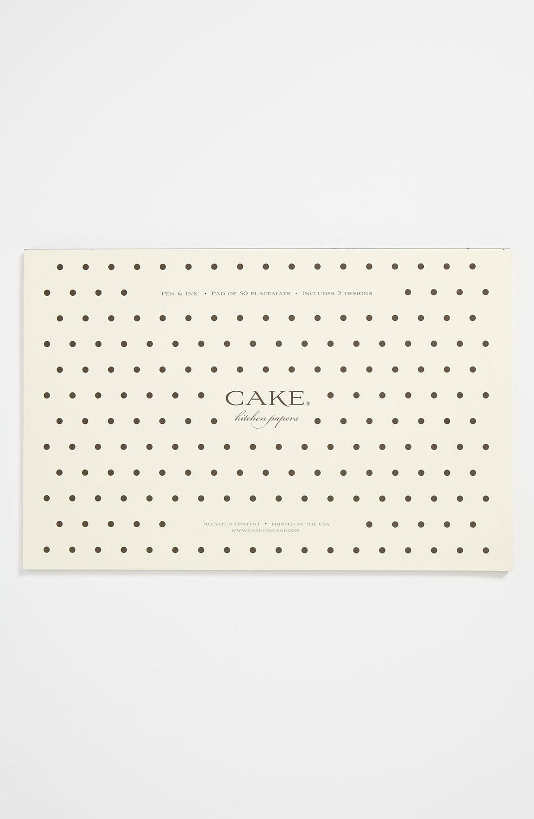 Alternate Image 1 Selected - Kitchen Papers by Cake 'Pen & Ink' Placemats