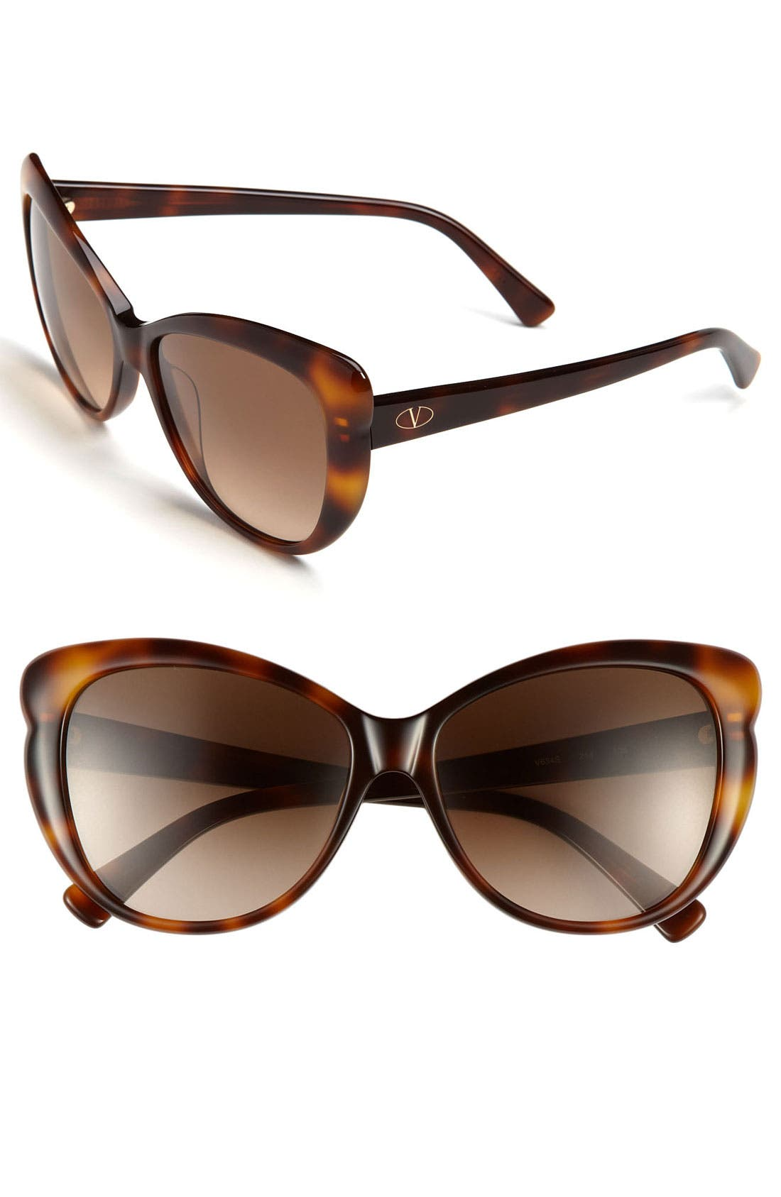 Main Image - Valentino 56mm Oversized Sunglasses