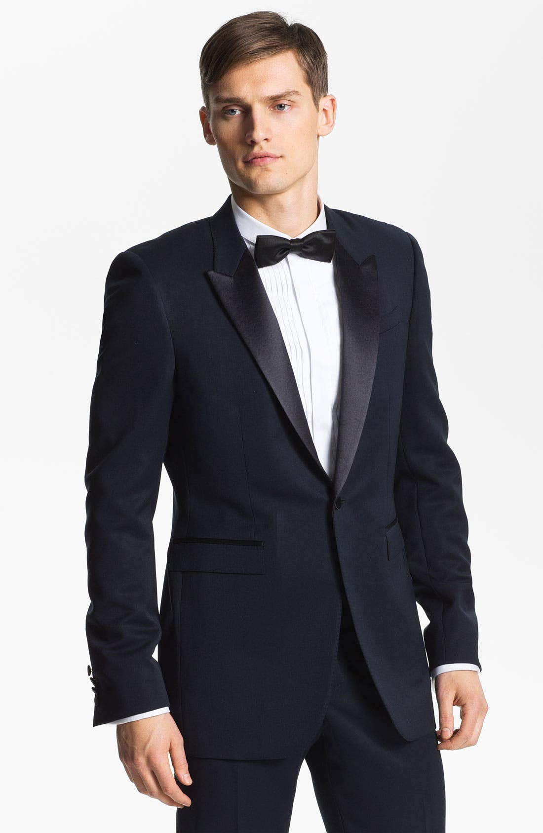 Alternate Image 1 Selected - Burberry Prorsum Peak Lapel Tuxedo Jacket