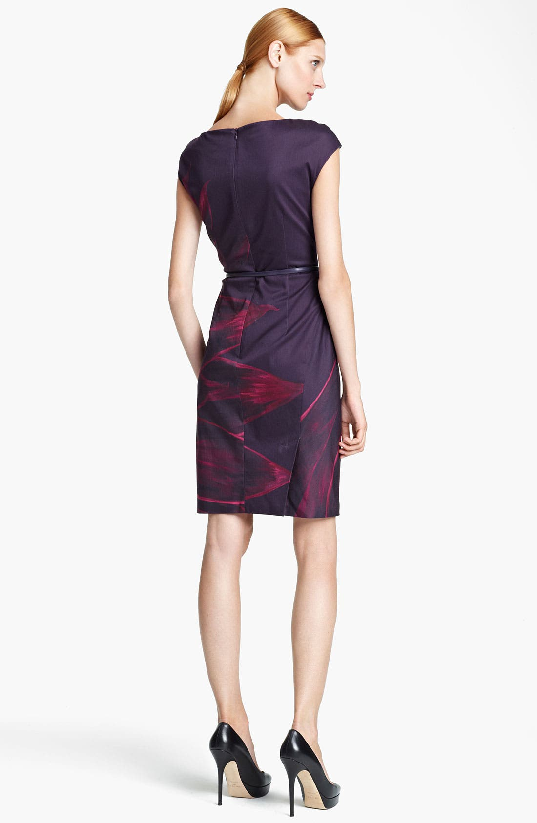 Alternate Image 2  - Max Mara 'Pallore' Belted Abstract Print Dress