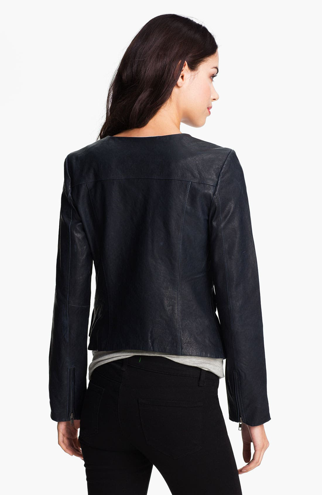 Alternate Image 2  - Q40 'Brigitte' Leather Utility Biker Jacket