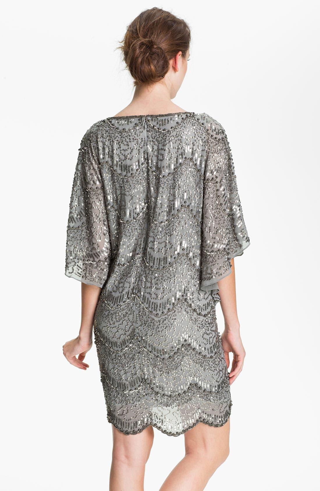 Alternate Image 2  - Adrianna Papell Flutter Sleeve Embellished Chiffon Dress