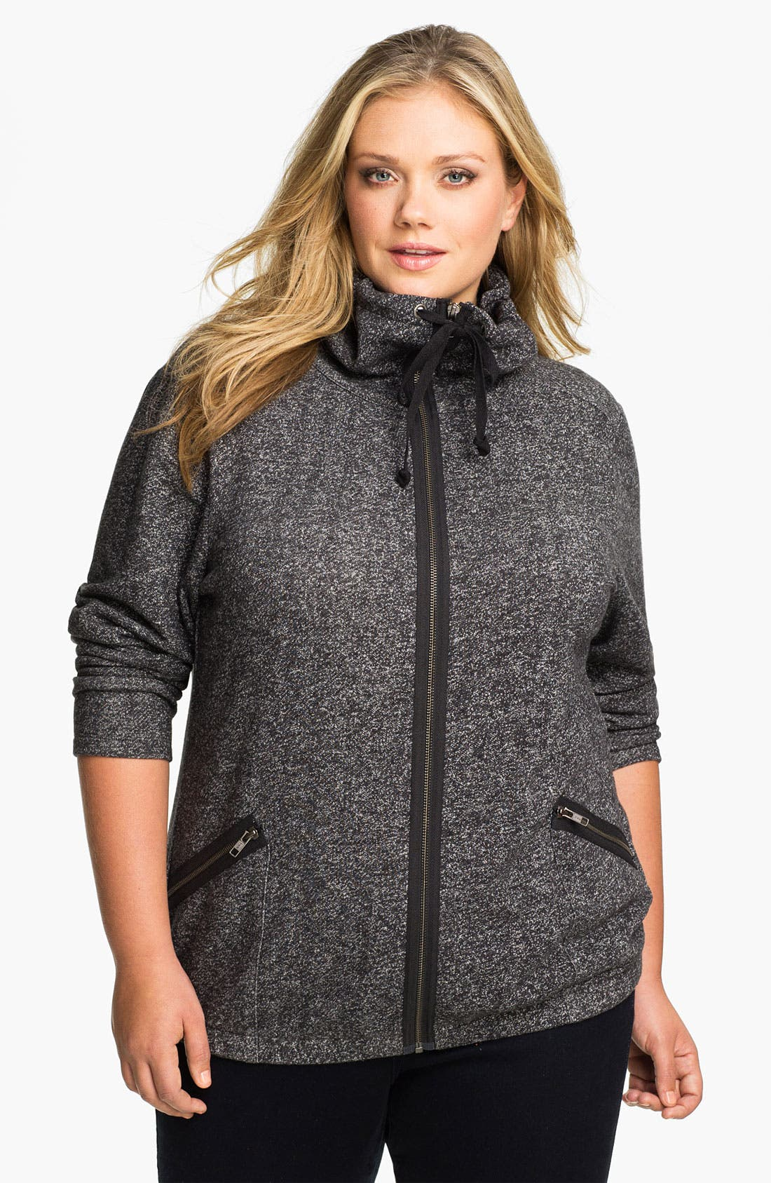 Main Image - Sejour 'Weekend' Zip Front Jacket (Plus)