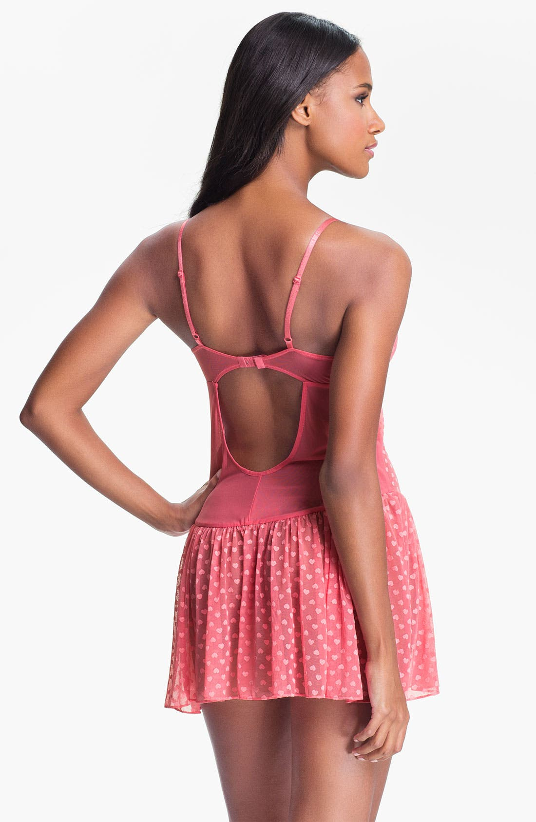 Alternate Image 2  - Betsey Johnson 'Heart' Mesh Slip