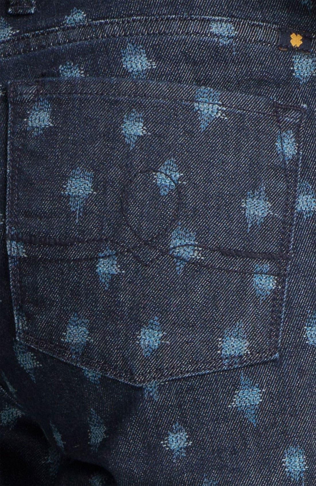 Alternate Image 3  - Lucky Brand 'Sofia' Print Skinny Jeans