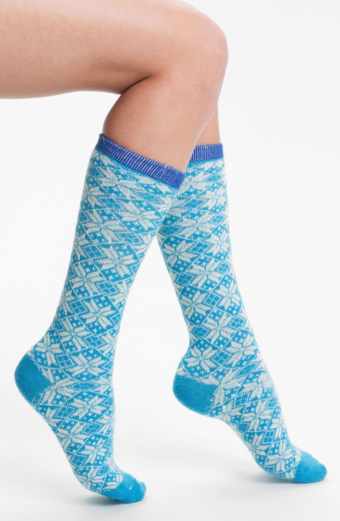 Alternate Image 1 Selected - Make + Model 'Snow Day' Crew Socks