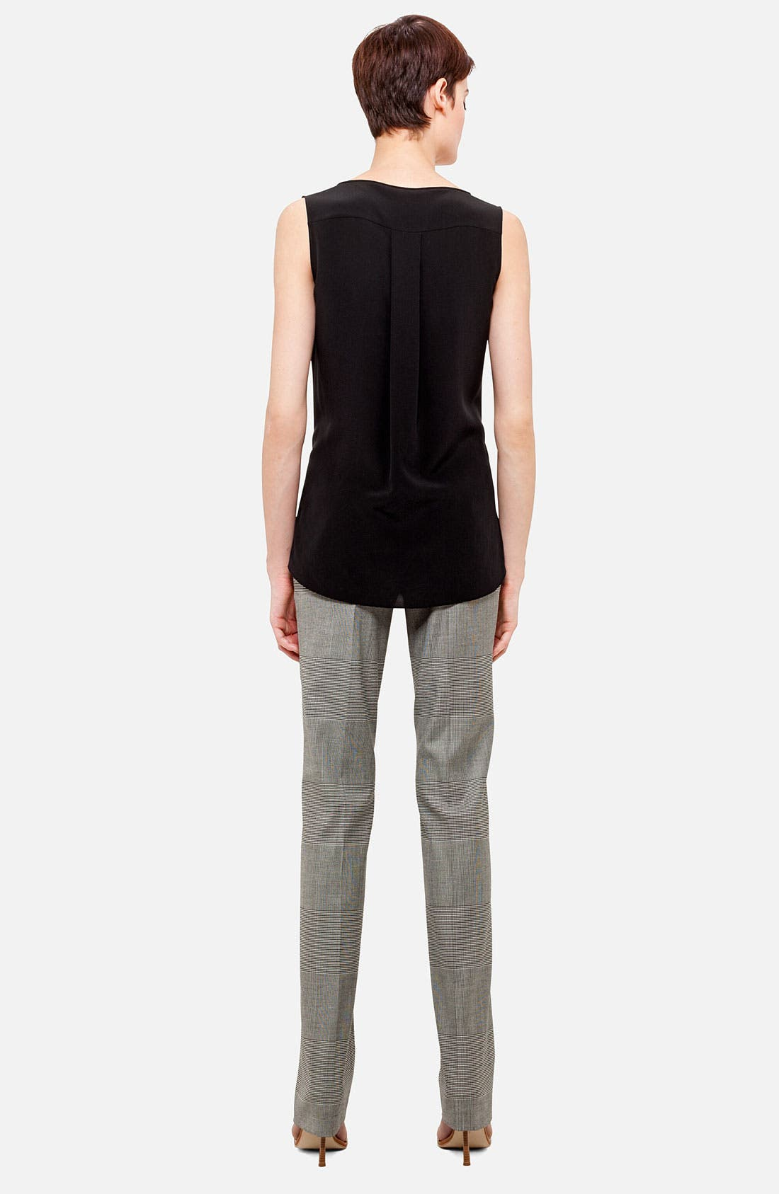 Alternate Image 2  - Akris punto Sleeveless Silk Blouse