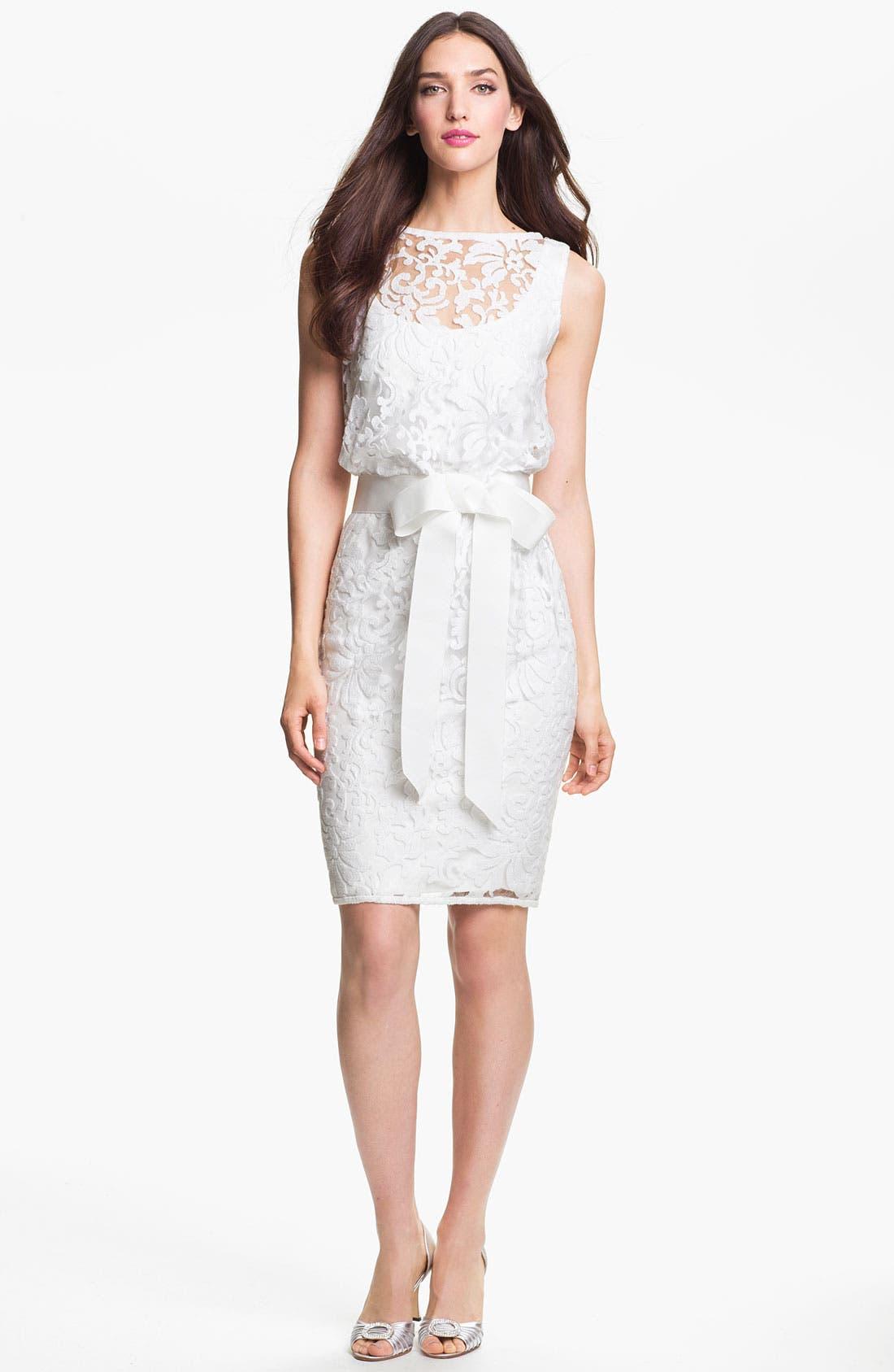Main Image - Tadashi Shoji Tulle & Lace Blouson Dress