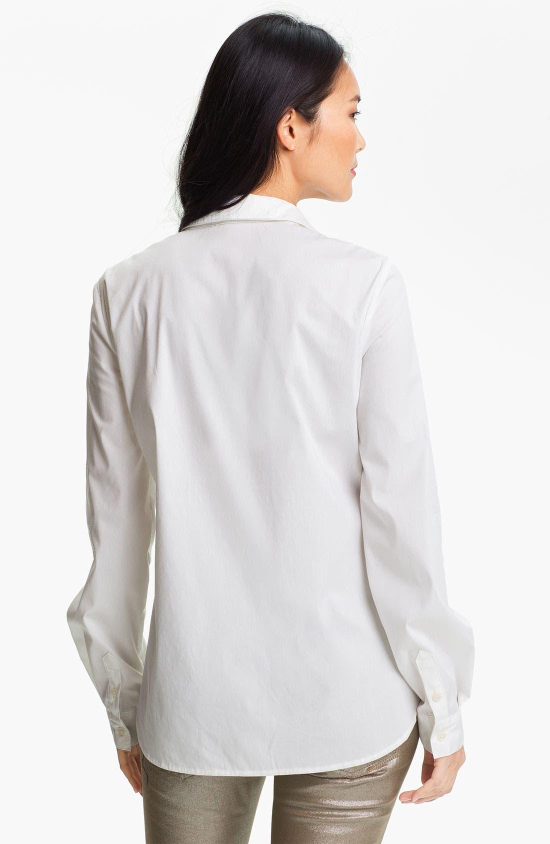 Alternate Image 2  - Anne Klein Poplin Shirt