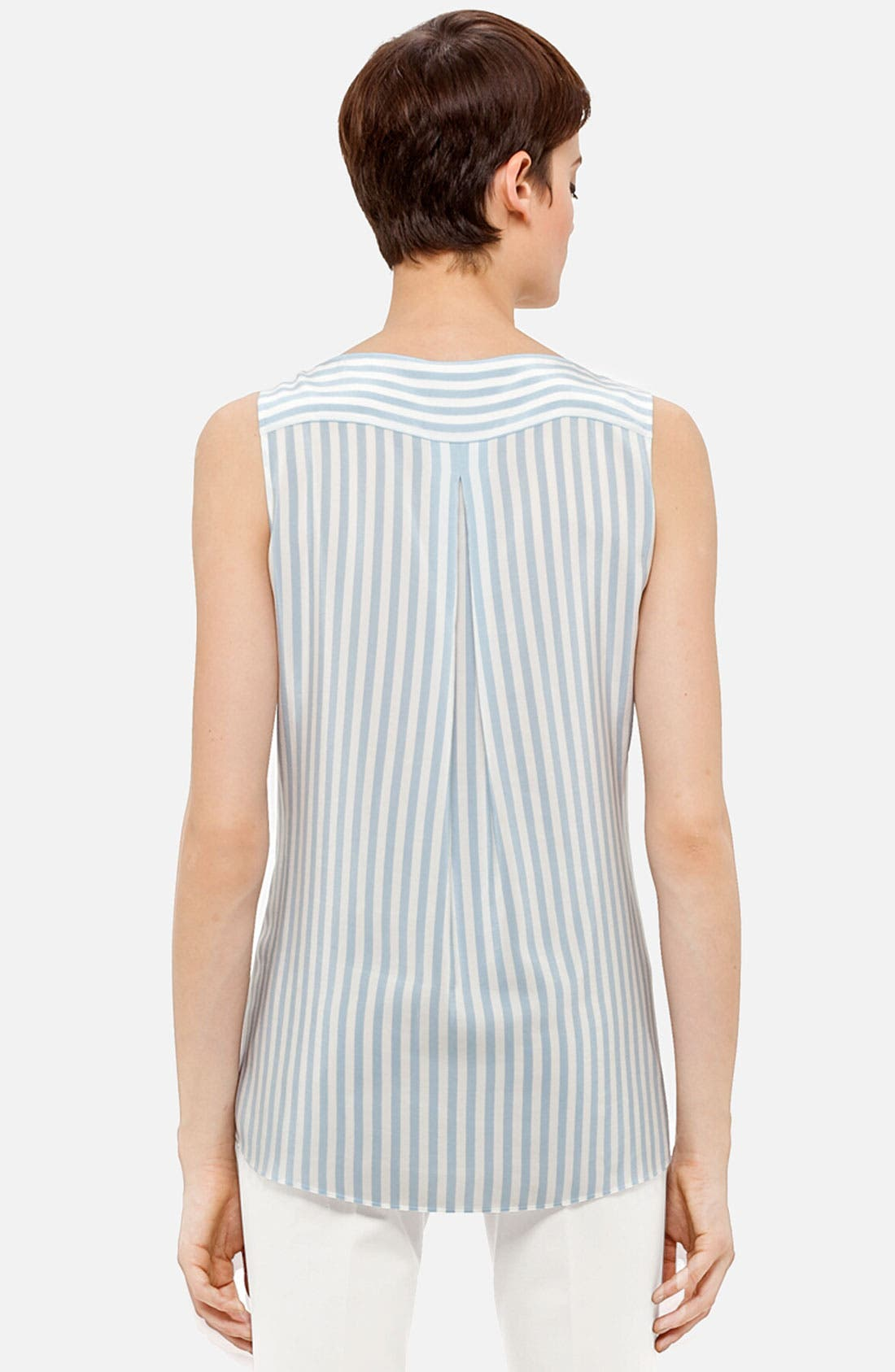 Alternate Image 2  - Akris punto Stripe Silk Blouse