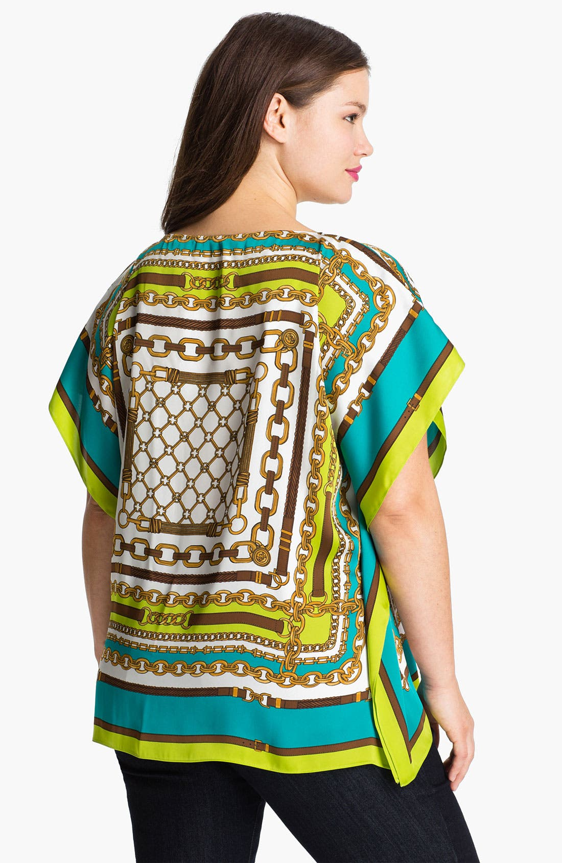Alternate Image 2  - MICHAEL Michael Kors Chain Print Tunic (Plus)