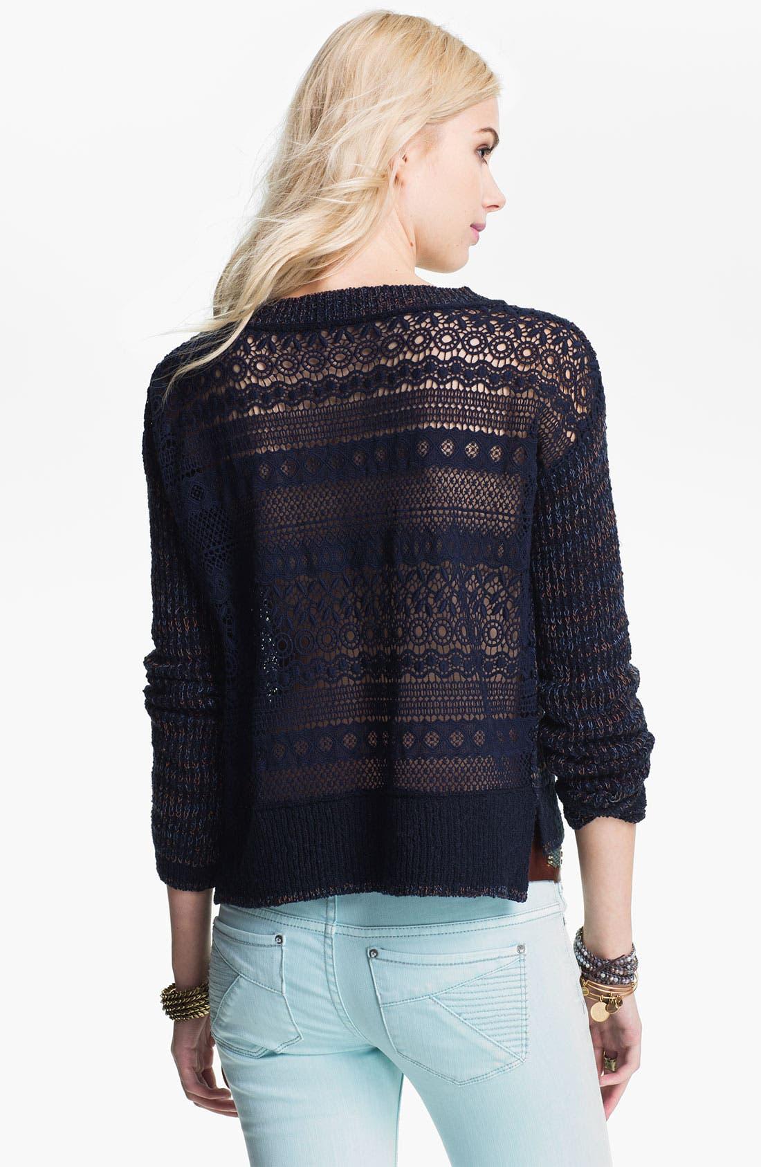 Alternate Image 2  - Free People 'Sweet Jane' Lace Back Sweater
