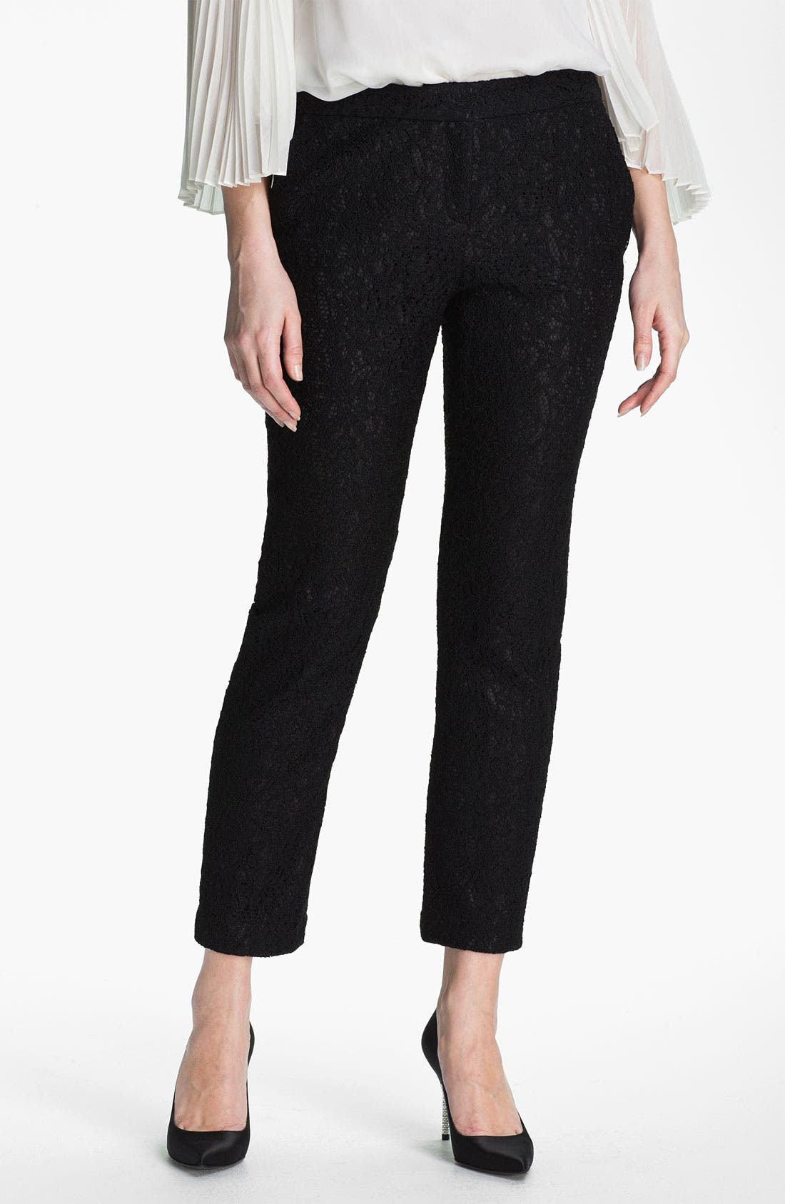 Alternate Image 1 Selected - Adrianna Papell Lace Crop Pants