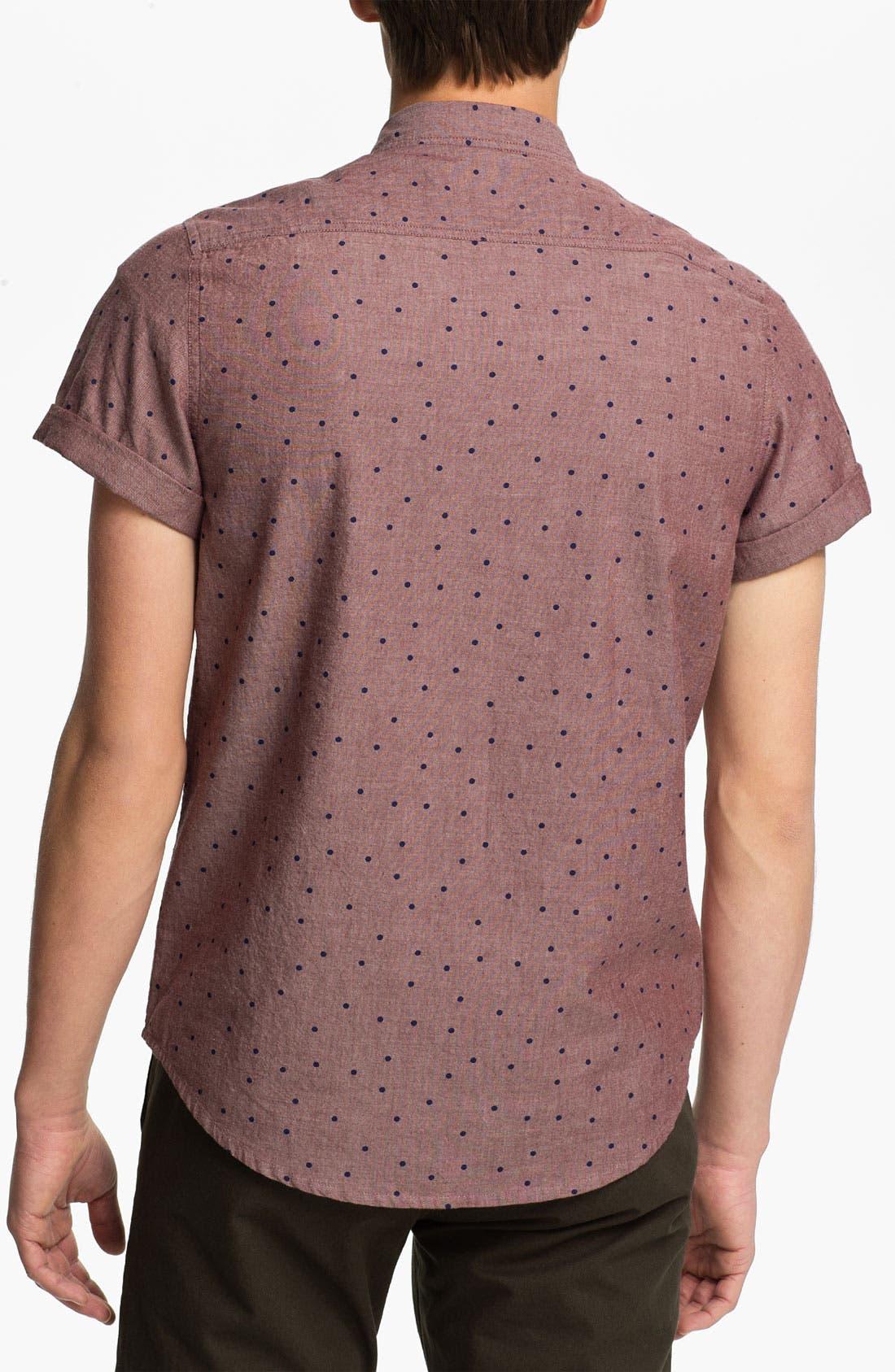 Alternate Image 2  - Topman Polka Dot Woven Shirt
