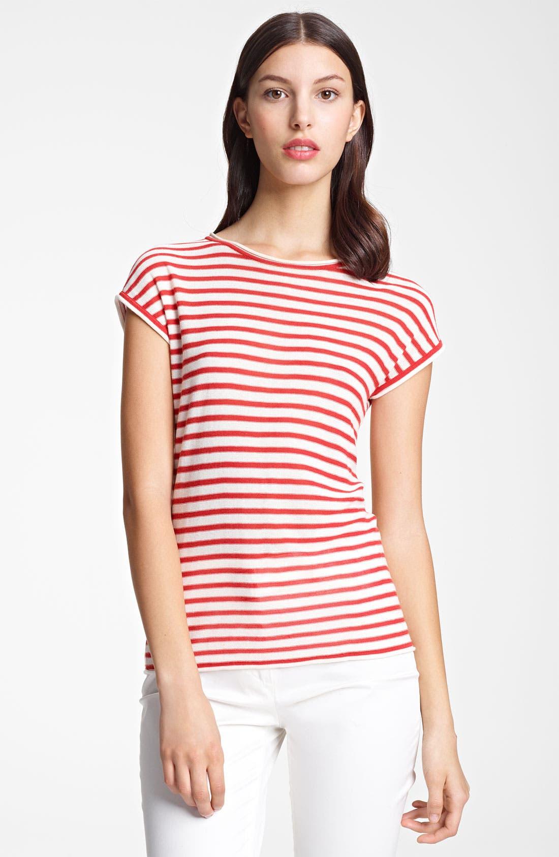 Main Image - Armani Collezioni Stripe Knit Top