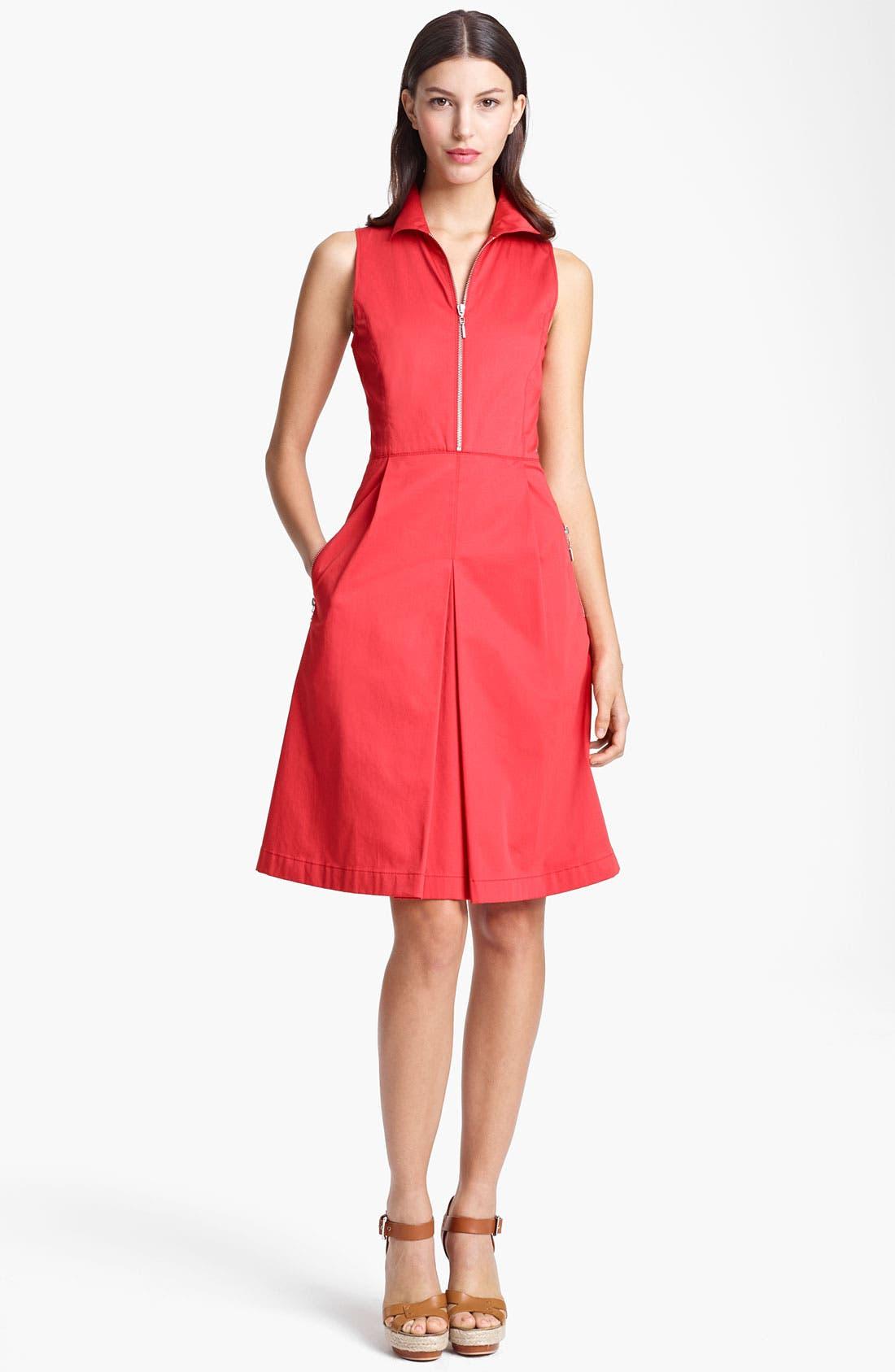 Main Image - Armani Collezioni Zip Front A-Line Dress