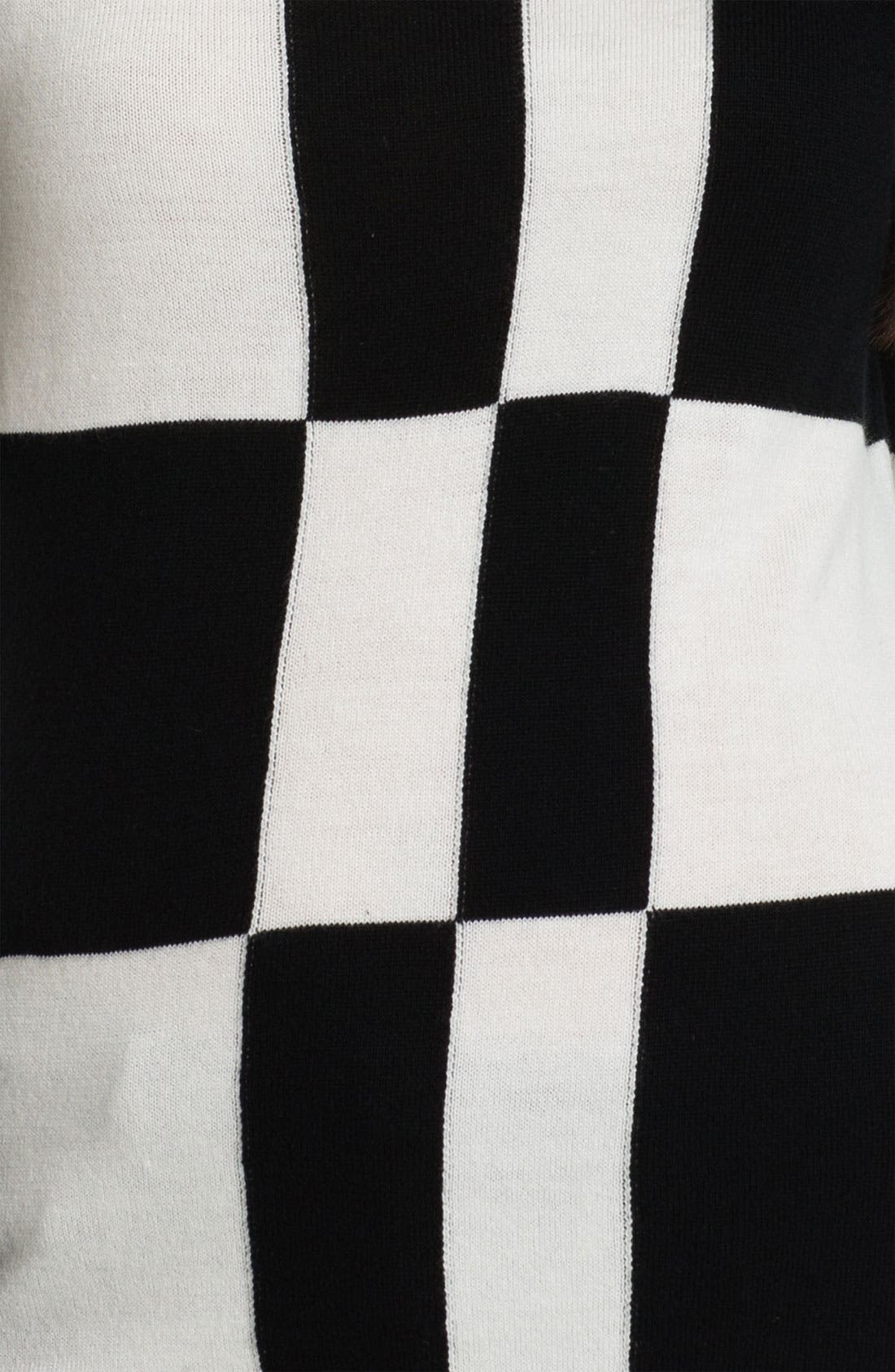 Alternate Image 3  - Vince Camuto Check Pattern Sweater
