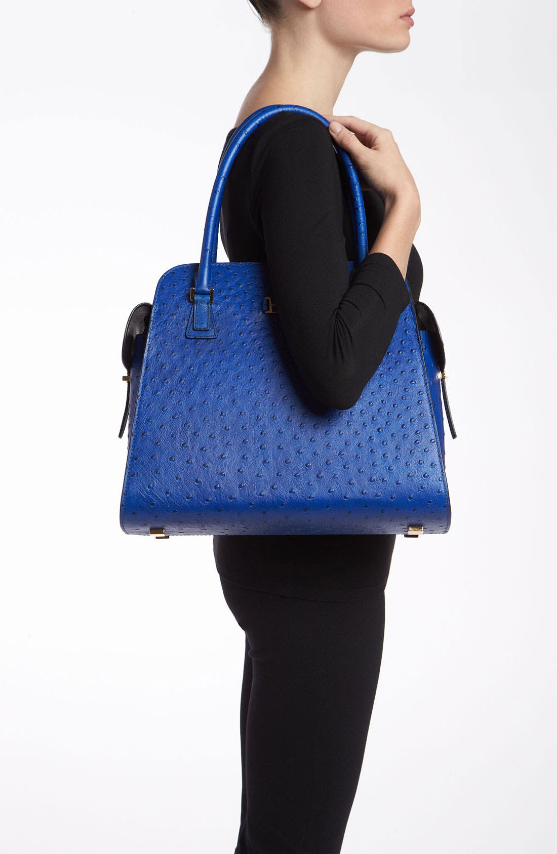 Alternate Image 2  - Michael Kors 'Gia' Ostrich Embossed Satchel