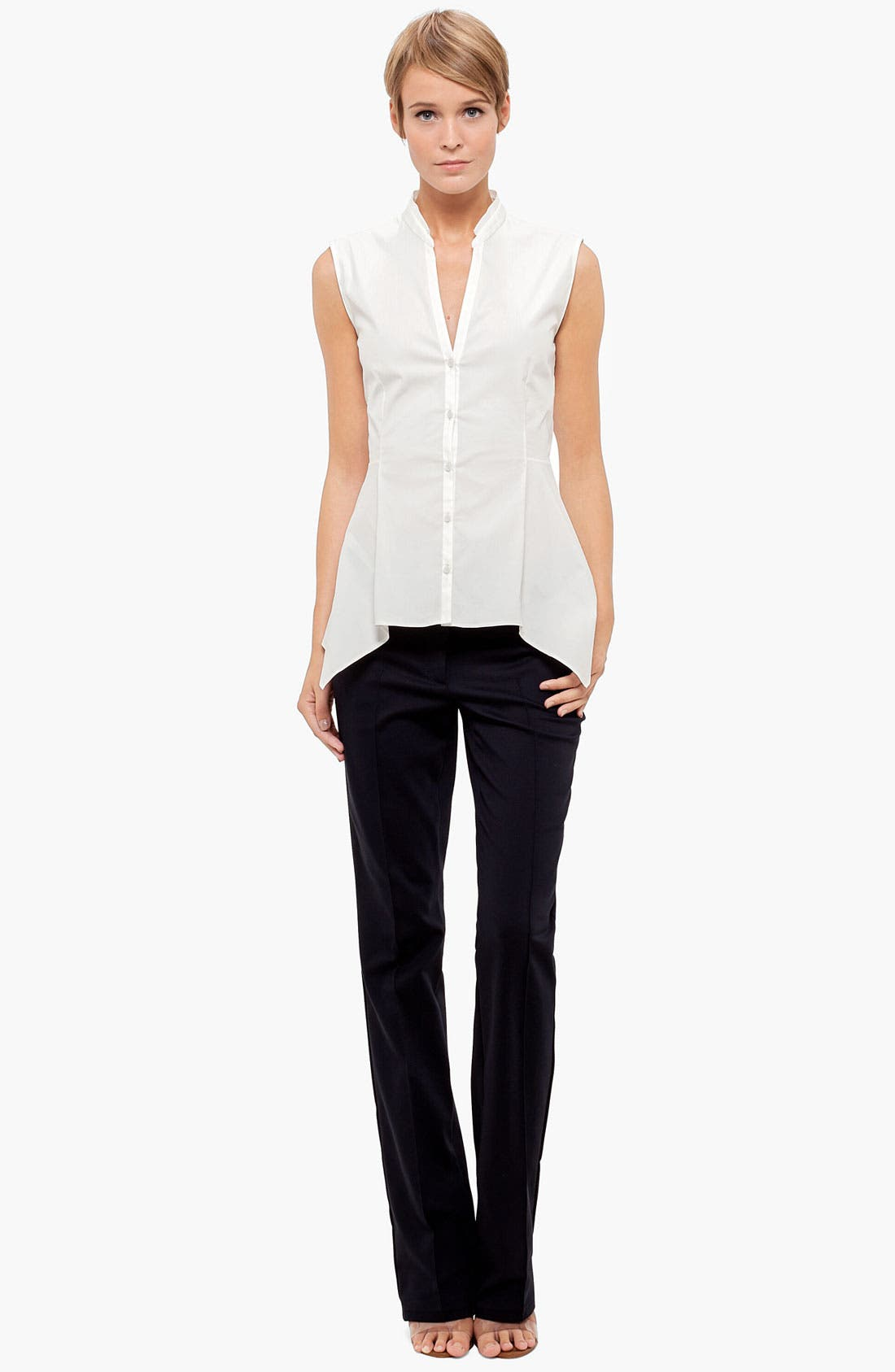 Alternate Image 4  - Akris punto Sleeveless Peplum Blouse