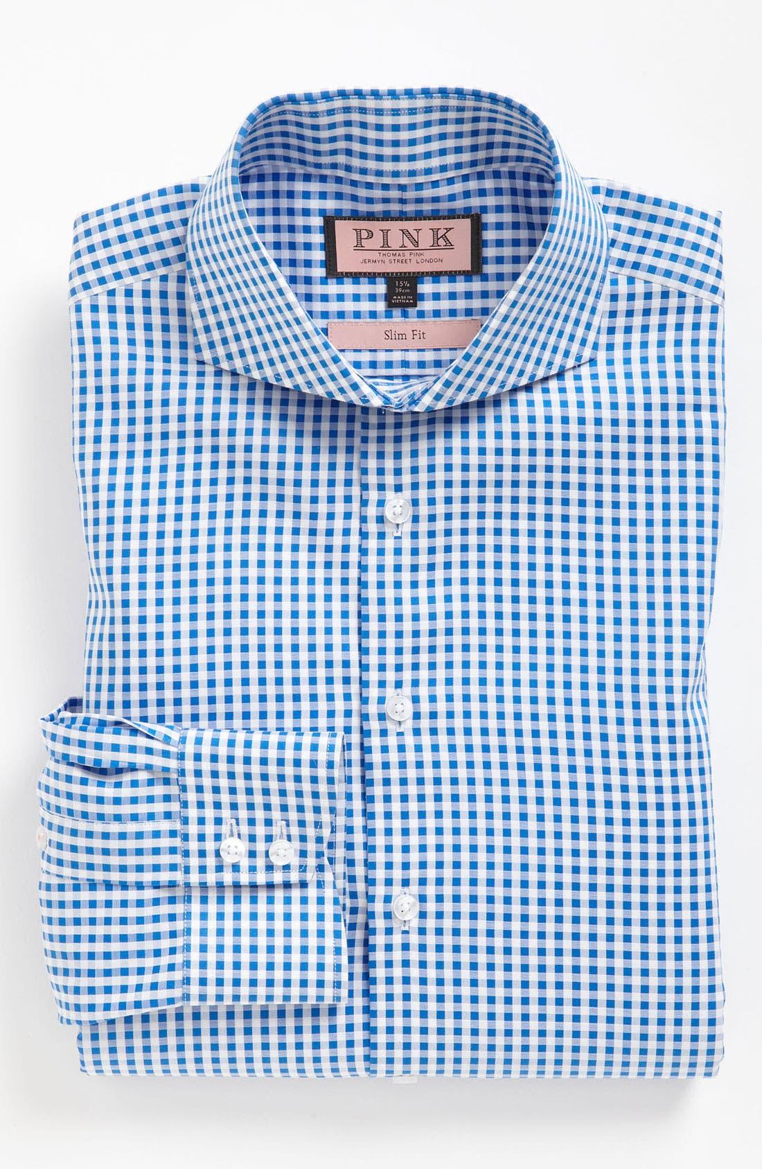 Main Image - Thomas Pink Slim Fit Dress Shirt