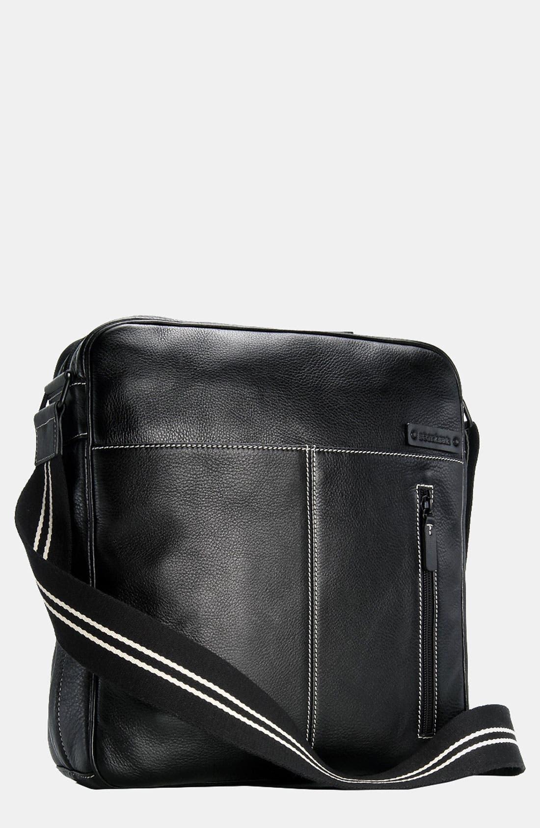 Storksak 'Jamie' Leather Diaper Bag
