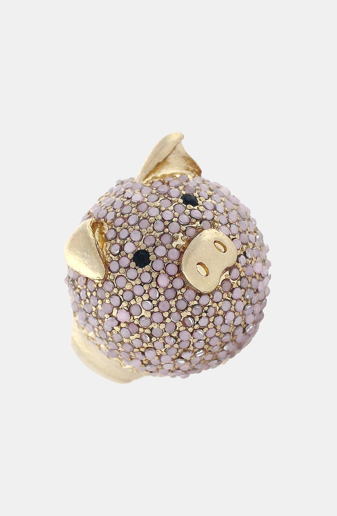 Main Image - BCBGeneration 'Animalia' Gold Pig Stretch Ring