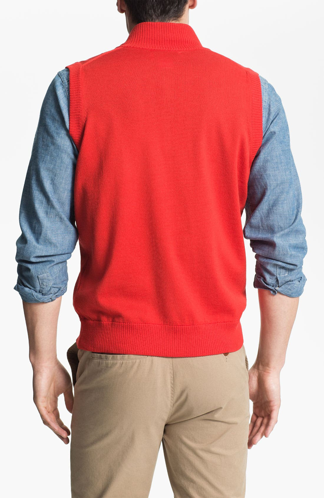 Alternate Image 2  - WISCONSIN 1/4 ZIP SWEATER VEST
