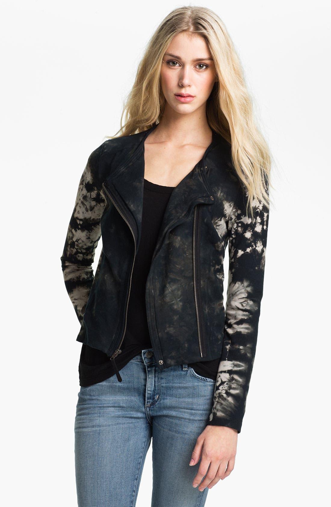 Alternate Image 1 Selected - Ella Moss 'Frankie' Tie Dyed Moto Jacket