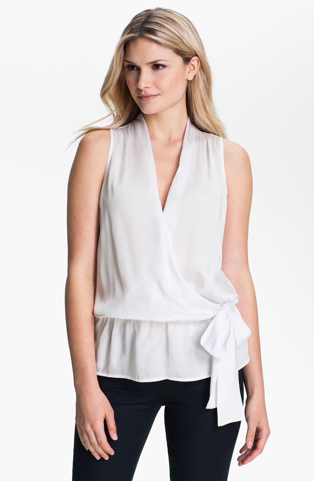 Alternate Image 1 Selected - MICHAEL Michael Kors Faux Wrap Sleeveless Shirt