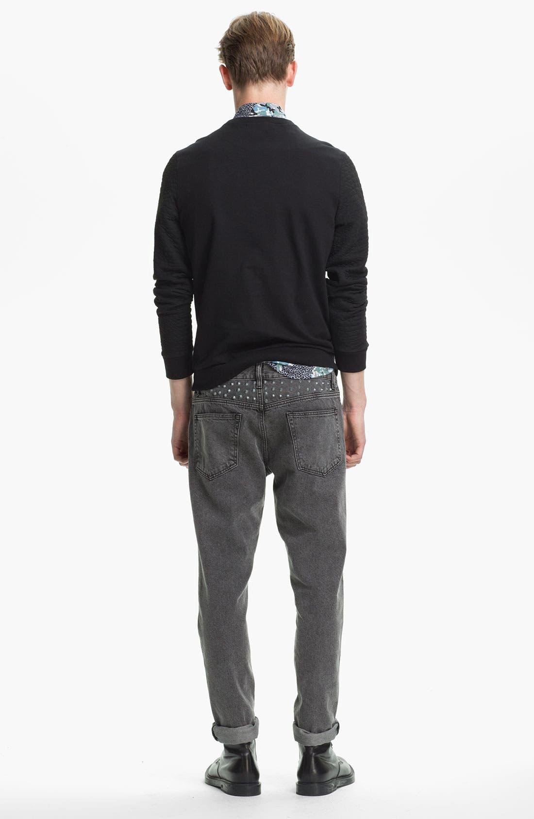 Alternate Image 6  - Topman Studded Skinny Fit Jeans
